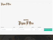 Tablet Preview of hotelpignadoro.it